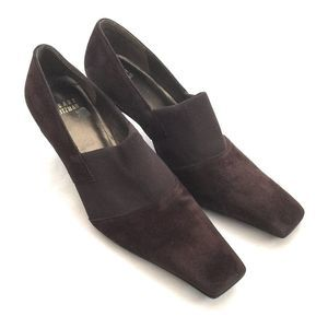 Stuart Weitzman Brown Suede Slip On Pumps Size 6